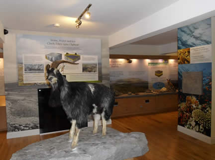 Inside the Burren National Park Information Point